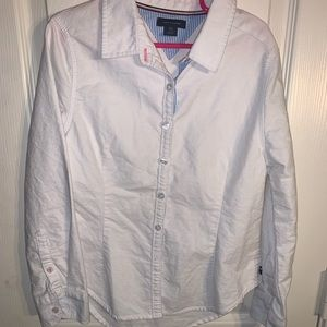 Girls Tommy Hilfiger Button Down Top Size s/p 7